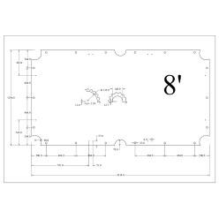 Stradivari Billardtisch Schieferplatten 3-teilig