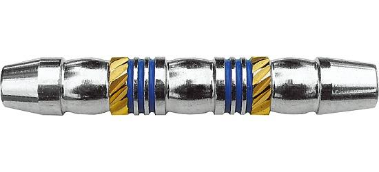 Kings Dart® Dart-Barrel Messing verchromt blau-gold
