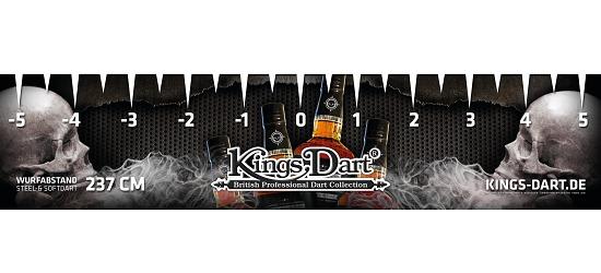 """Kings Dart® Turnier-Abwurflinie """"Skull"""""""