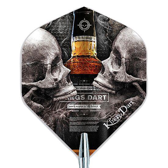 "Kings Dart Dart Flight ""Skull"" Skull'n'Whisky"