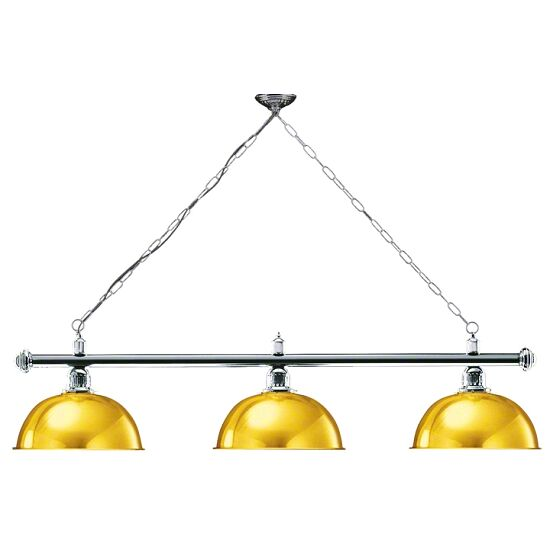 Automaten Hoffmann Billardlampe London Chrom, Gold