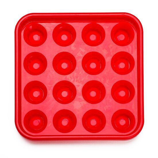 Automaten Hoffmann Ball-Tablett für Pool-Billardkugeln Rot