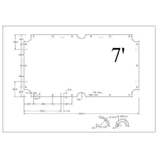 Automaten Hoffmann Billardtisch Schieferplatten 3-teilig 7 Fuß