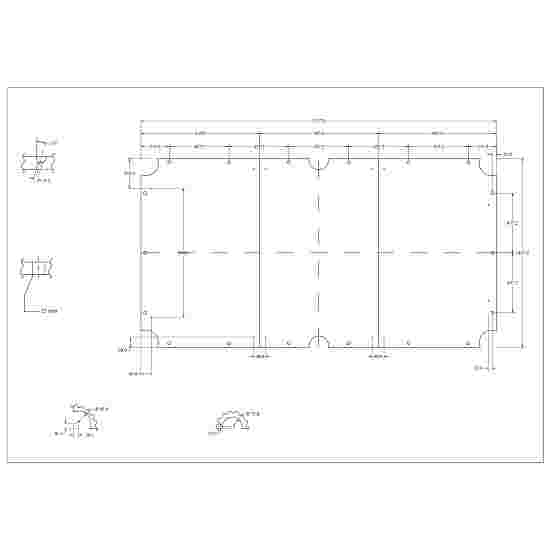 Automaten Hoffmann Billardtisch Schieferplatten 3-teilig 9 Fuß