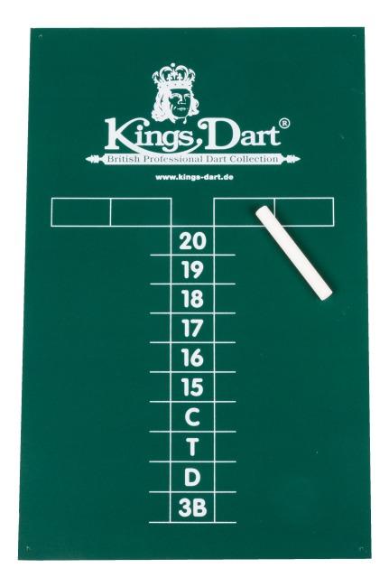 Kings Dart Kreidetafel