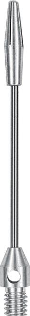 "Kings Dart Schaft ""Steel-Wire"" Medium = 45 mm, Silber"