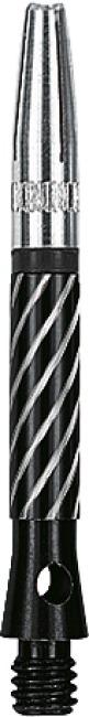 Kings Dart® Schaft mit drehbarer Spitze Short = 35 mm, Schwarz