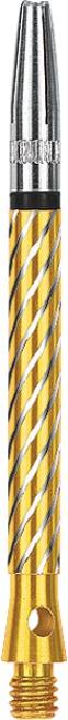 Kings Dart® Schaft mit drehbarer Spitze Medium = 45 mm, Gold