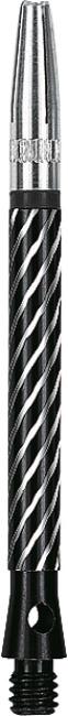 Kings Dart® Schaft mit drehbarer Spitze Medium = 45 mm, Schwarz