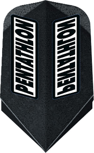 "Pentathlon Flight ""Professional"" Slim, Schwarz"