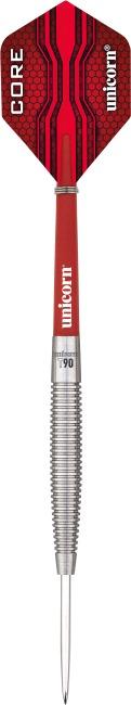 "Unicorn® Steeldartpfeil ""Core XL T90"" 23 g, Torpedoform"