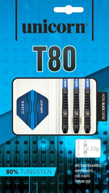 "Unicorn® Steeldartpfeil ""Core XL T80"" 22 g, Torpedoform"