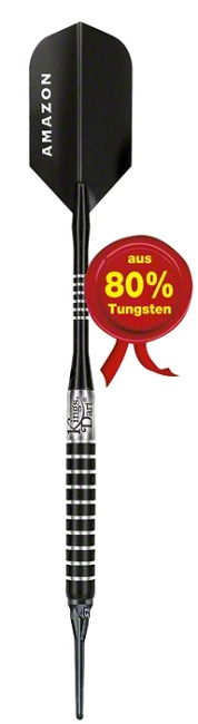 "Kings Dart® Softdartpfeil ""Black Torpedo"" 14 g"
