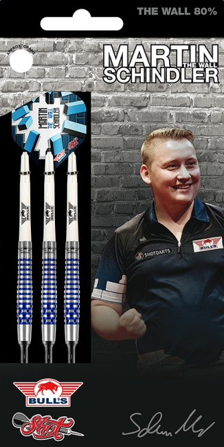 "Bull's NL Softdartpfeil ""Martin Schindler The Wall 80% PCT Blue"" 18 g"