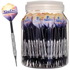Kings Dart® 100 Stück Softdartpfeile in Dose