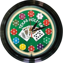 Poker Wanduhr
