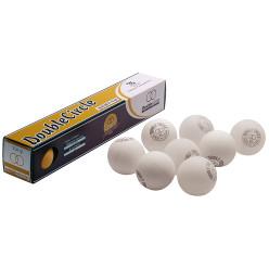 Double-Circle Tischtennisbälle, weiß