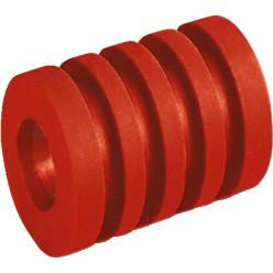 Rückstoß-Stangenpuffer lang (40 mm) Rot