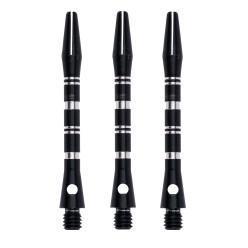 Kings Dart® Alu-Schaft mit Zier-Ringen Medium = 45 mm, Schwarz