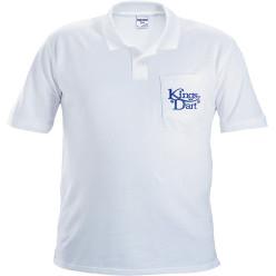 Kings Dart Poloshirt, weiß