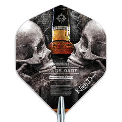 "Kings Dart Dart Flight ""Skull"" Skull'n'Whisky"