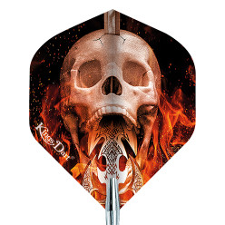 "Kings Dart® Dart Flight ""Skull"" Fire Skull"