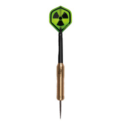 "Kings Dart® Steeldartpfeil ""Radioactive"" Golden Steeldart"