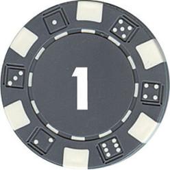 Dice Pokerchip mit Zahl