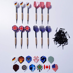Kings Dart Set: 12 Softdartpfeile, 36 Flights und 100 Spitzen