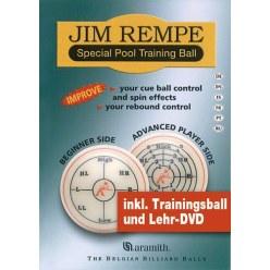 Aramith Jim Rempe Pool-Trainingskugel inkl. DVD und Buch
