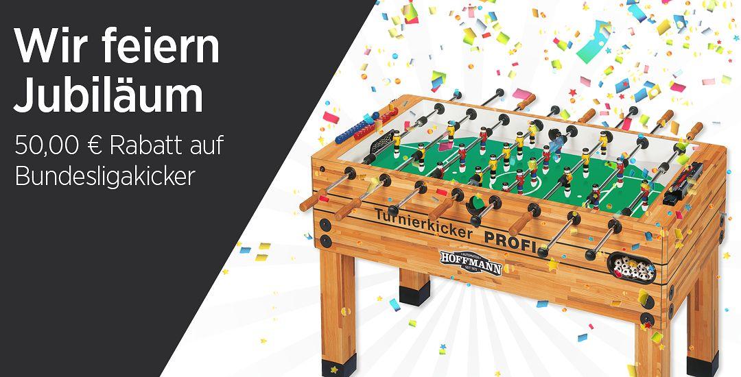 Wir feiern Jubiläum - 50 € Rabatt auf Bundesligakicker